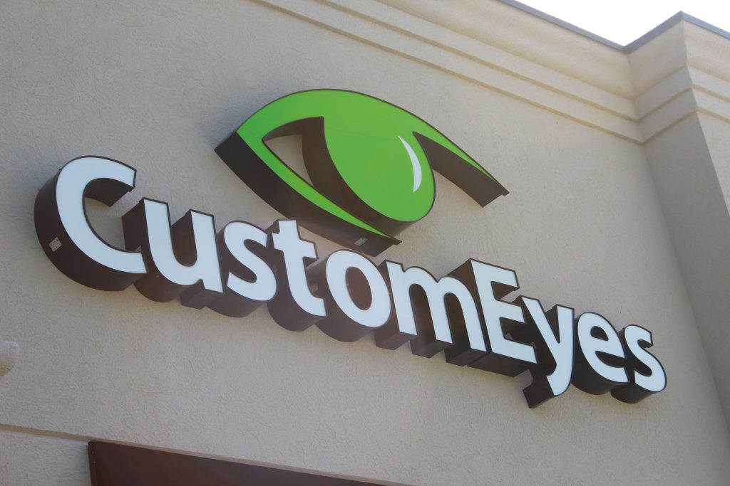 CustomEyes outside sign
